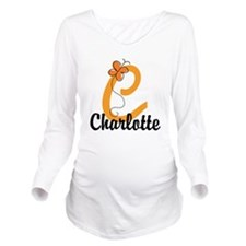 Custom C Monogram Long Sleeve Maternity T-Shirt