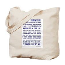 SAY GRACE Tote Bag