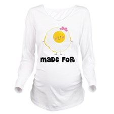 Egg and Bacon Couples Long Sleeve Maternity T-Shir