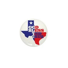 God Bless Ted Cruz Mini Button (10 Pack) Mini Butt
