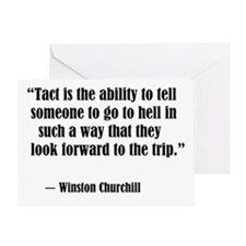 tact:Winston Churchhill Greeting Card