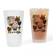Owl Love Forever Drinking Glass