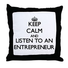 Keep Calm and Listen to an Entrepreneur Throw Pill