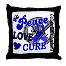 Peace Love Cure 2 GBS Throw Pillow