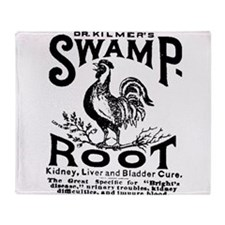 swamp root Throw Blanket