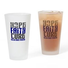 Hope Faith Cure GBS Drinking Glass