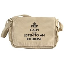 Keep Calm and Listen to an Internist Messenger Bag