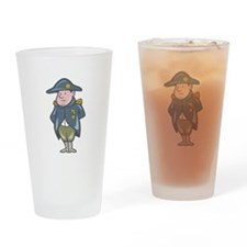 French Military General Cartoon Drinking Glass