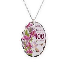 100th Birthday Pink Crocus Necklace