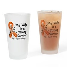 Wife Strong Survivor Drinking Glass