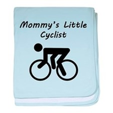 Mommys Little Cyclist baby blanket