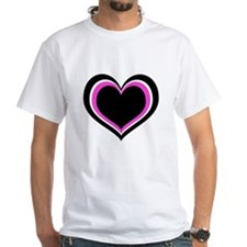 Pink, White and Black Hearts T-Shirt