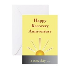 Recovery Anniversary Card (Pk of 10) Greeting Cards