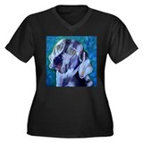 Weimaraner - Looker Women's Plus Size V-Neck Dark