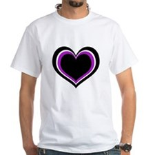 Purple, Black and White Heart T-Shirt
