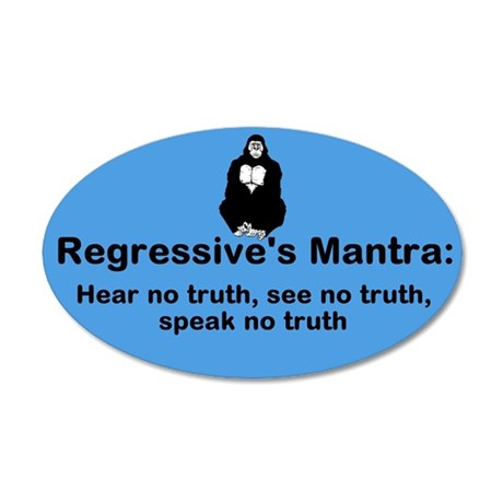 Speak No Truth 35x21 Oval Wall Decal