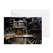Steam Locomotive wheels Greeting Card