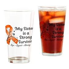 Sister Strong Survivor Drinking Glass