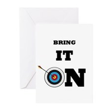 Bring It On Archery Target Greeting Cards