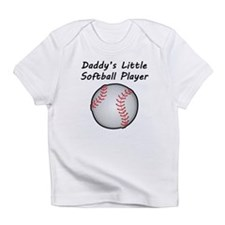 Daddys Little Softball Player Infant T-Shirt