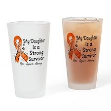 Daughter Strong Survivor Drinking Glass