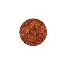 ancient Mayan textile Mini Button
