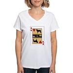 King Kuvasz Women's V-Neck T-Shirt