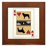 King Kuvasz Framed Tile