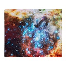 Colorful Star Clusters Collision Throw Blanket