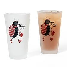 Ladybug Hugs Drinking Glass
