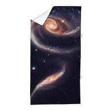 Spiral Galaxies Interacting Beach Towel