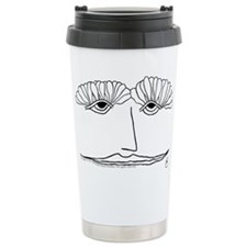 Cute Black and white drawing Travel Mug