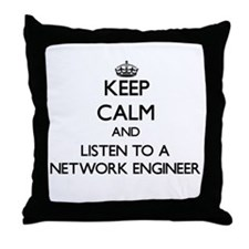 Keep Calm and Listen to a Network Engineer Throw P