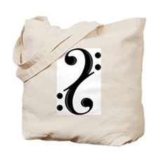 Double Bass Clef Tote Bag