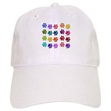 Rainbow Cat Paws Baseball Cap