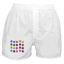 Rainbow Cat Paws Boxer Shorts