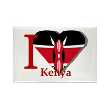 I love Kenya Rectangle Magnet