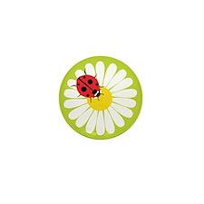 Daisy Ladybug Mini Button (10 pack)
