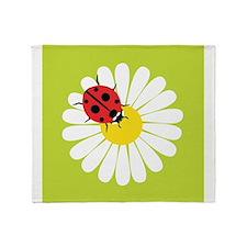 Daisy Ladybug Throw Blanket