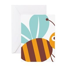 Flying Bee Greeting Cards