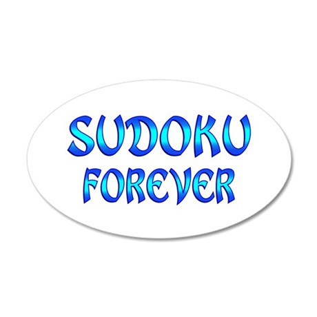 Sudoku Forever 35x21 Oval Wall Decal