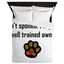 Well Trained Springer Spaniel Owner Queen Duvet