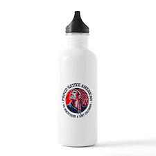 Proud Native American (Columbus) Water Bottle