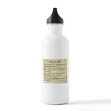 March 9th Water Bottle