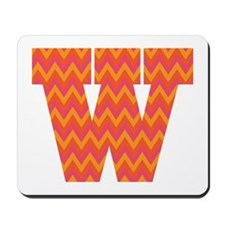W Monogram Chevron Mousepad