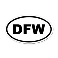 Dfw Oval Car Magnet