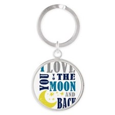 LOVE YOU TO THE MOON Keychains