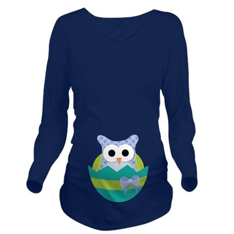Easter Owl Maternity Baby Long Sleeve Maternity T-