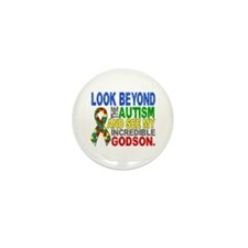 Look Beyond 2 Autism Godson Mini Button (10 pack)