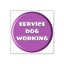 SERVICE DOG WORKING PURPLE Sticker